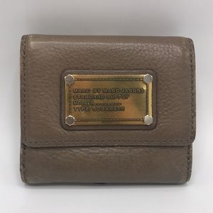 Marc Jacobs Tan Pebbled Leather Bifold Wallet